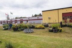 Dela trädgård vernissagedagen den 1 september.