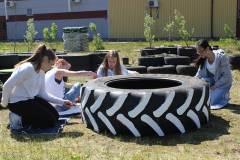Dela trädgård samarbete med högstadieungdomar