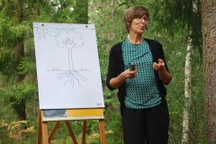 Föreläsning om mykorrhiza, Skogsliv 2016.